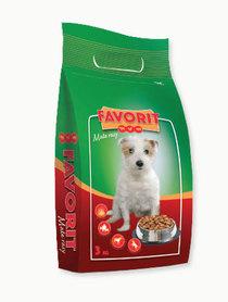 Pełnoporcjowa sucha karma dla psów małej rasy Favorit z wołowiną, drobiem i wieprzowiną 3 kg