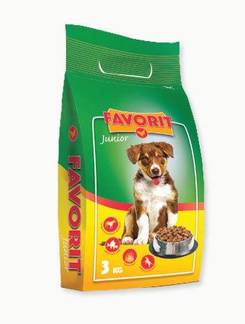 Pełnoporcjowa sucha karma dla szczeniaków Favorit z kurczakiem 3 kg